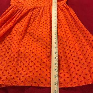 Old Navy Dresses - Size 8 Orange Double Layered Full Skirted Dress